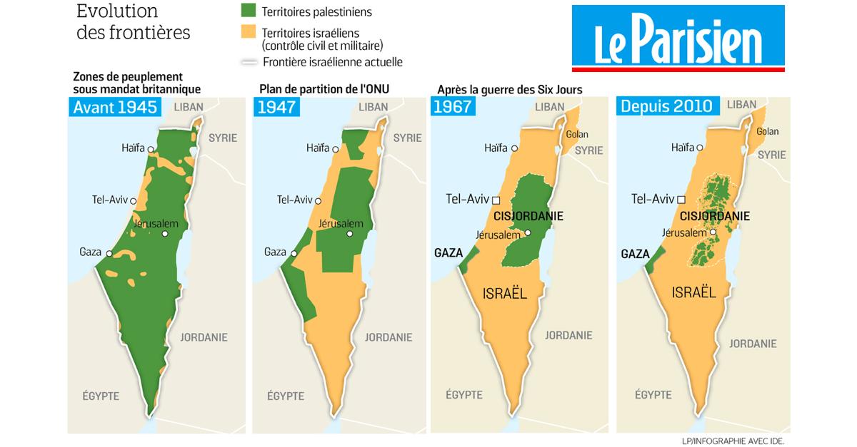 Le Parisien diffuse une carte trompeuse des « territoires palestiniens  perdus »